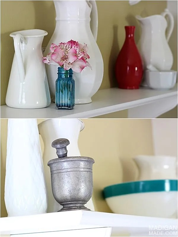 simple decorating ideas for shelves