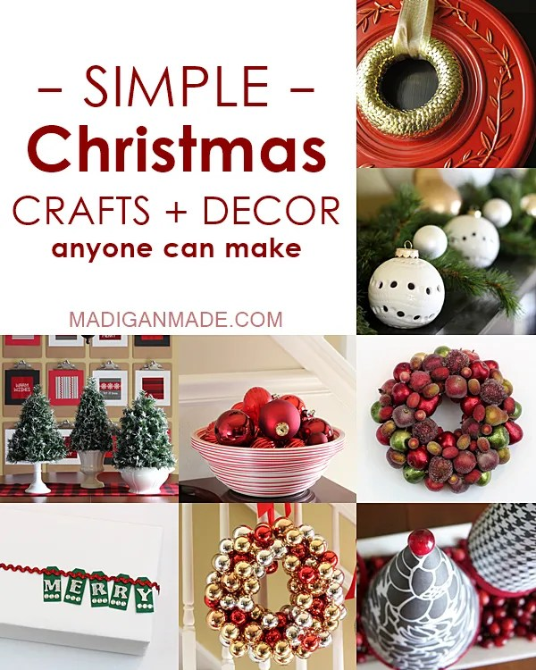 Simple christmas crafts and décor ideas rosyscription