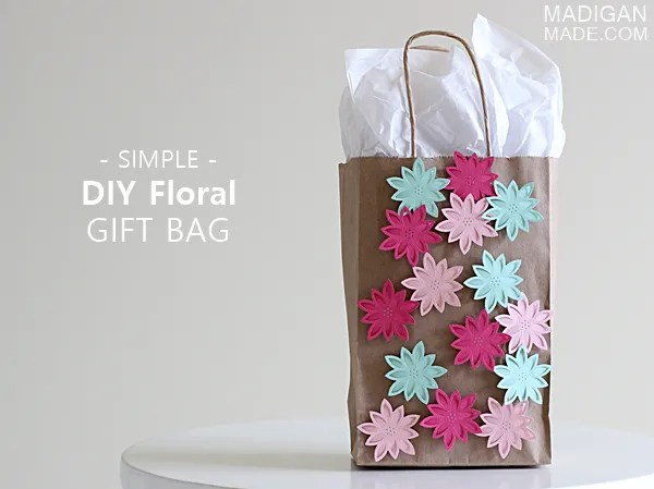 simple DIY decorated gift bag idea