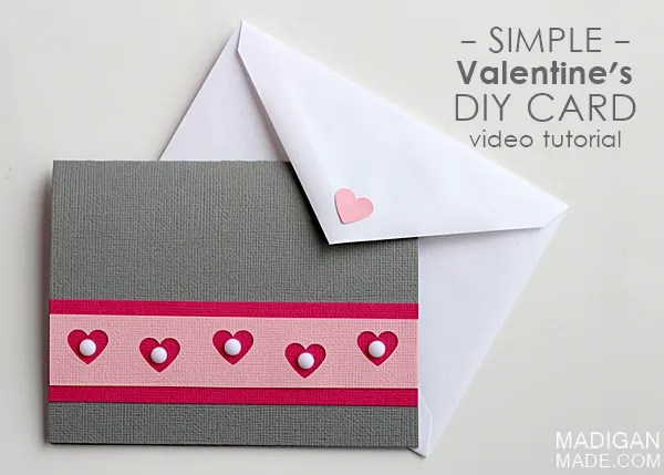 Easy Handmade Valentines Card video  Rosyscription