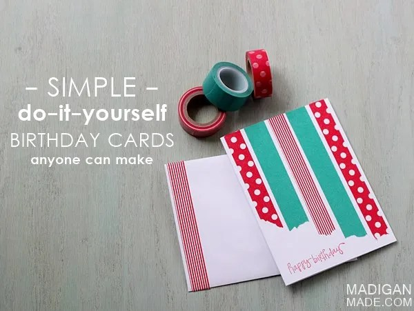 The Simplest DIY Washi Tape Cards - Rosyscription