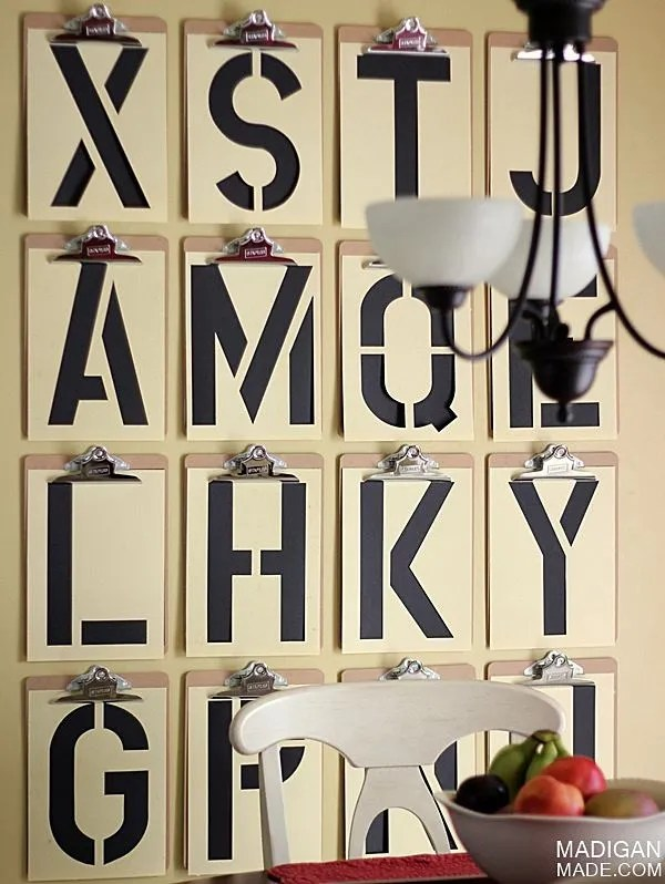 Typography DIY wall art