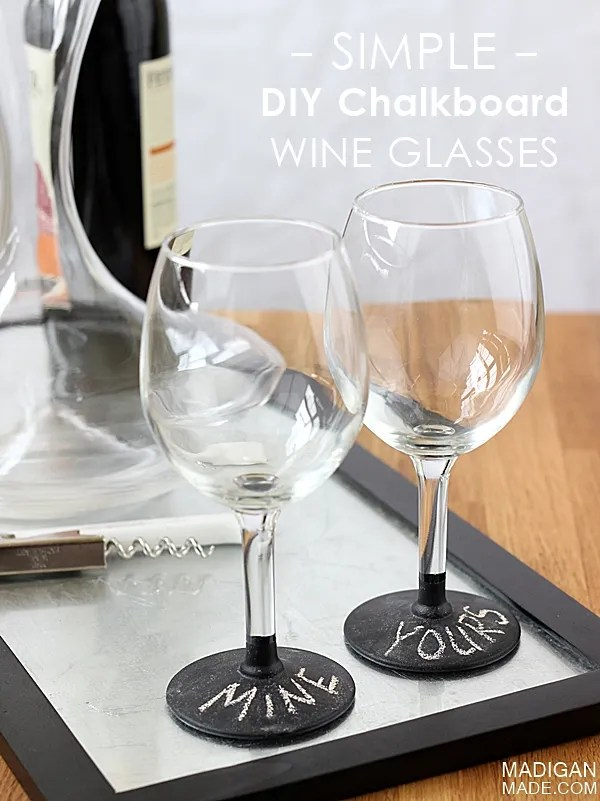 Can you use chalkboard paint on wine glasses? Yes and it is washable!