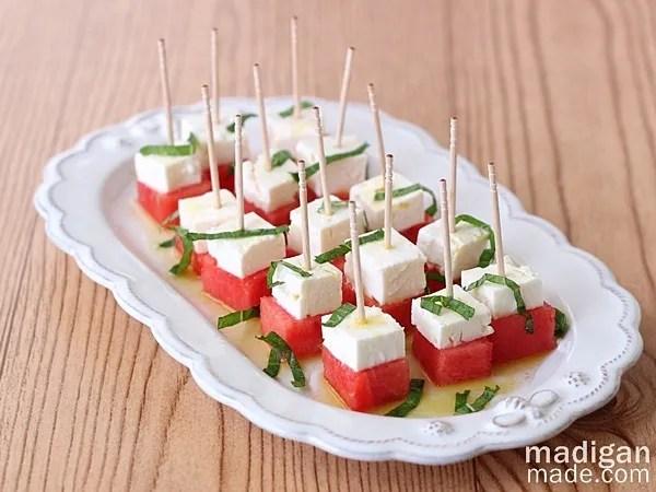 Watermelon, Feta and Mint Appetizer