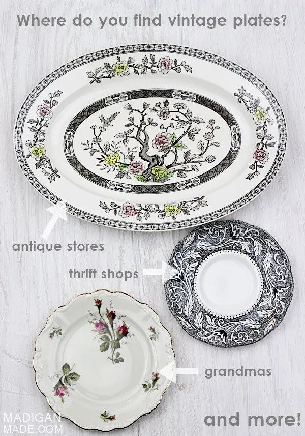 Where to find vintage plates - lots of ideas and tips here.