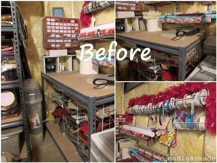 My Colorful Ombre Basement Craft Storage Rosyscription