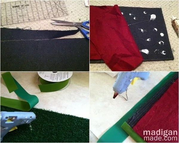 how to make a table runner from astro turf