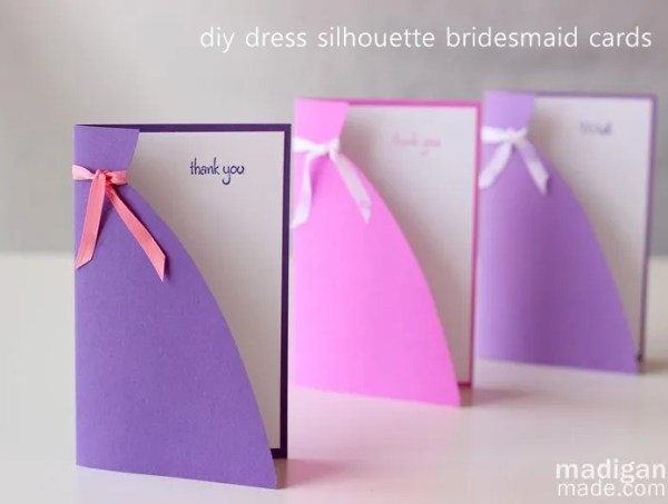 DIY Bridemaid Card Idea - so simple and easy!