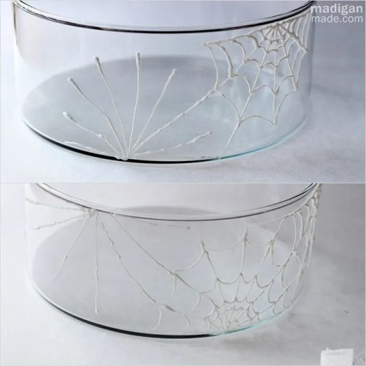 draw spiderwebs on glass - madiganmade.com
