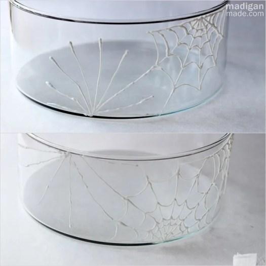 draw spiderwebs on glass - madiganmade.com