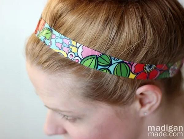 easy duck tape headband