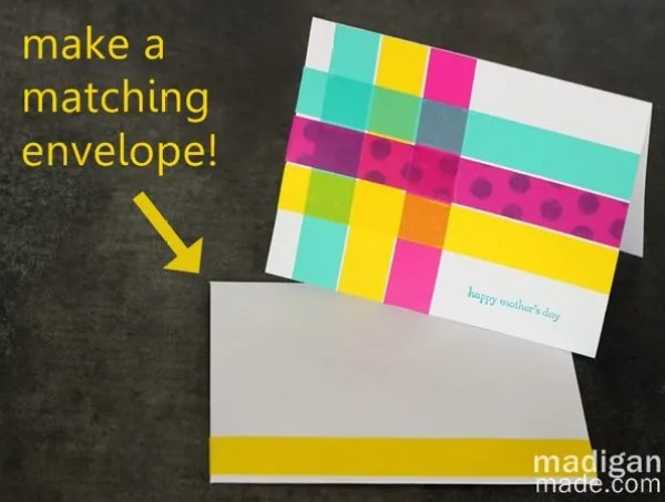 Match the envelope to your homemade card