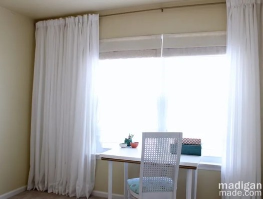 Great Tip Simple Solution To Create A Long Curtain Rod