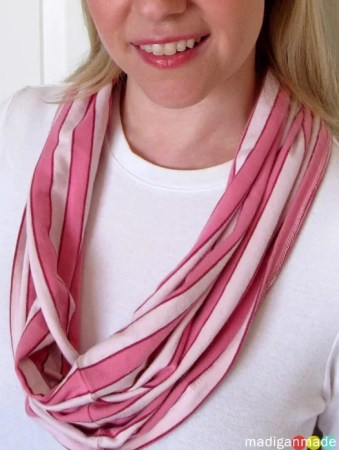5 simple diy scarf ideas plus many more rosyscription cut yourself a simple t shirt no sew infinity scarf solutioingenieria Image collections