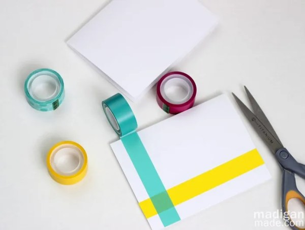 how to make washi tape cards
