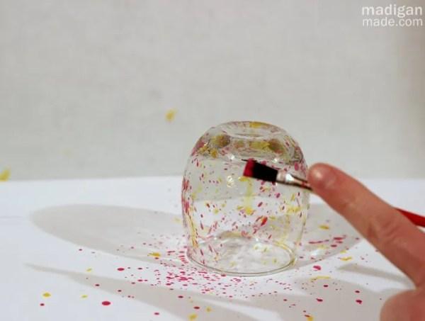 splatter paint craft tutorial