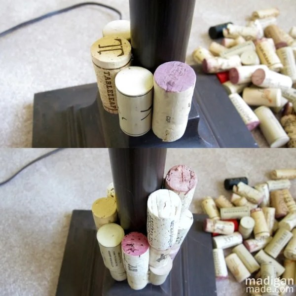 How to update a lamp with paint and wine corks