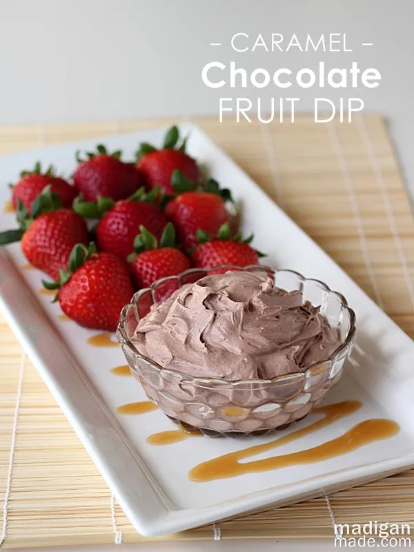 Fluffy Chocolate Caramel Fruit Dip