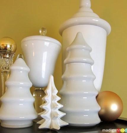 milkglass trees jars