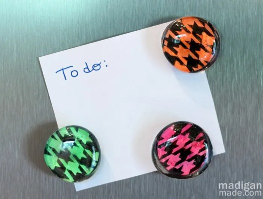 neon glass gem magnet craft