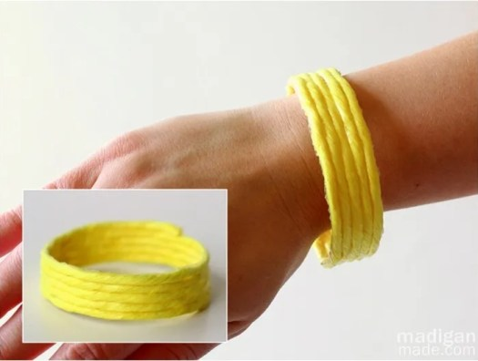 neon yellow bracelet diy