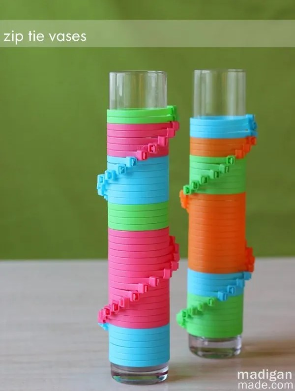 Color Block Zip Tie Vases Rosyscription