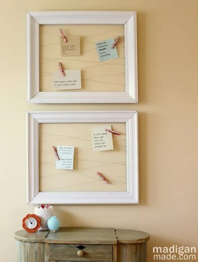 Open Frame and Wire Memo Board - Rosyscription