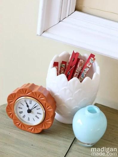 orange, white and blue ceramics