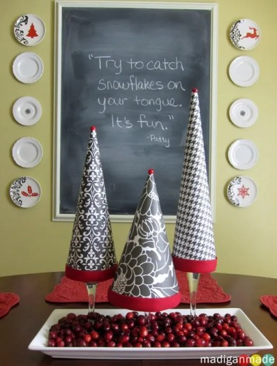 paper christmas cone tree craft