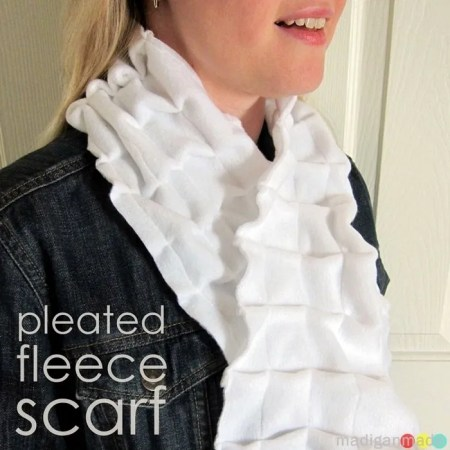 pleated fleece scarf