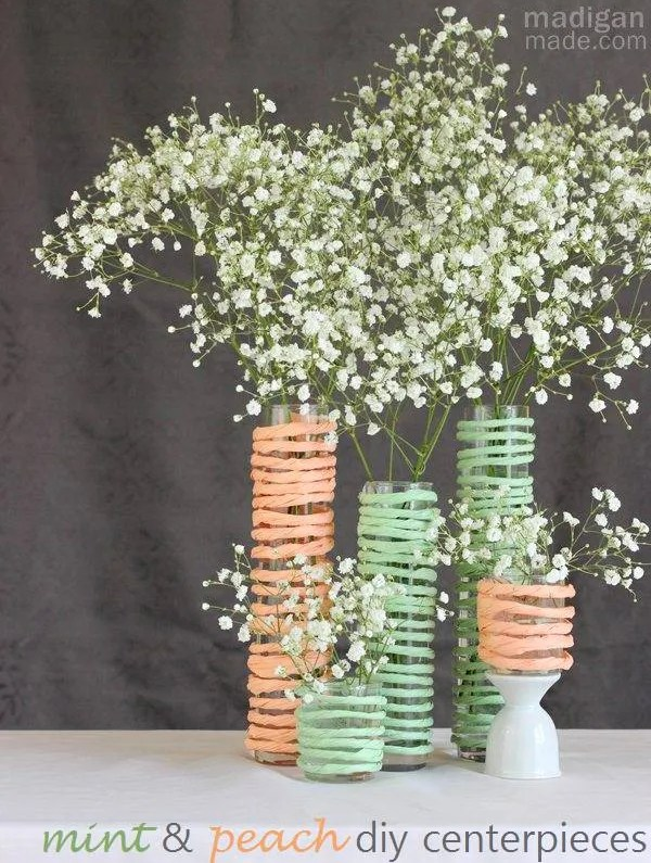 A simple centerpiece with baby s breath rosyscription