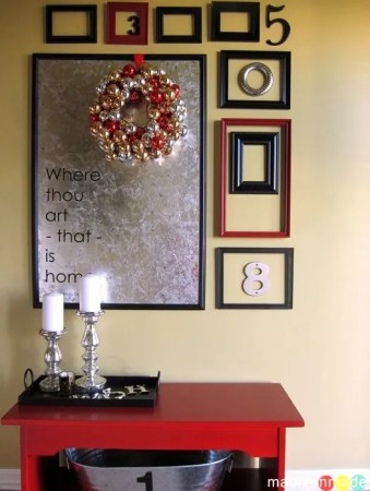 holiday gallery wall foyer