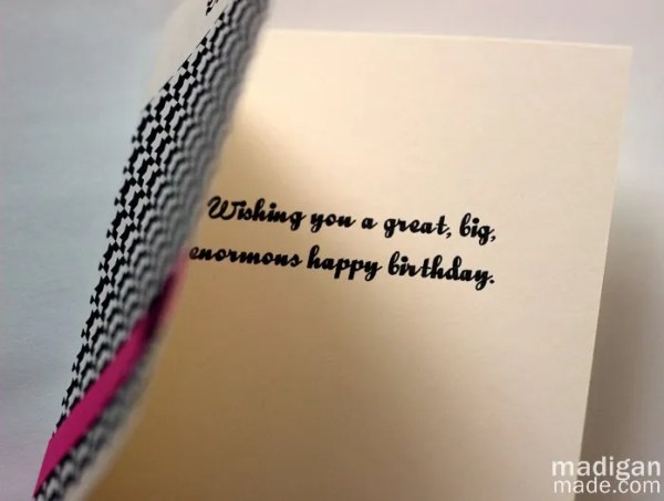 Amazing A Simple Handmade Birthday Card Idea Rosyscription Funny Birthday Cards Online Inifofree Goldxyz