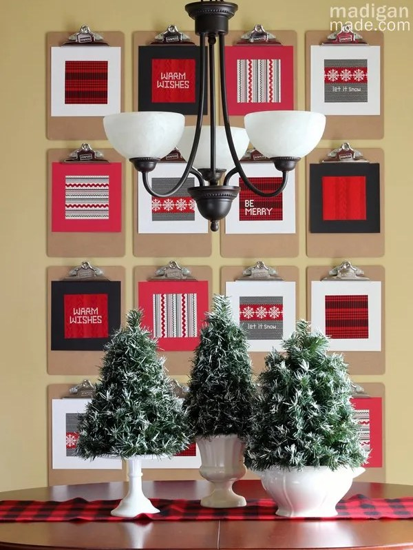 cozy and simple holiday kitchen decor - part of the holiday home tour at madiganmade.com