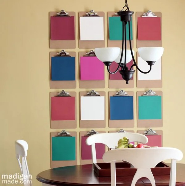 Love this Clipboard DIY Wall Art - details at madiganmade.com