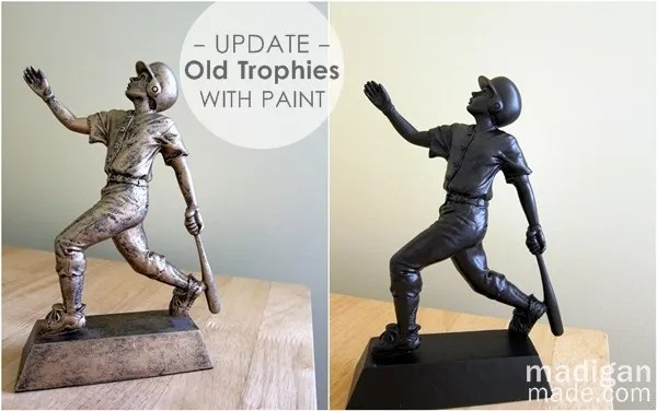 spray paint your old trophies to update them