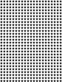 free star pattern print