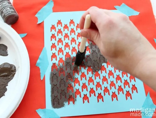 how to use paper stencils. - madiganmade.com