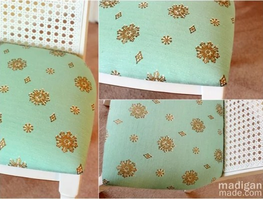 vintage retro fabric covered chair