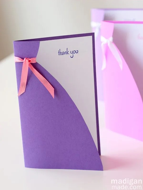 will you be my bridesmaid idea - easy DIY card