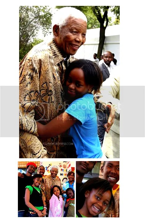 NELSON MANDELA WITH HIS GREAT GRANDDAUGHTER ZENANI
