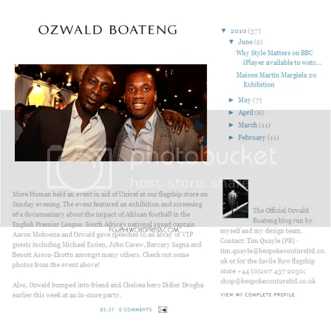 Savile Row greatest tailor Ozwald Boateng Launches Blog