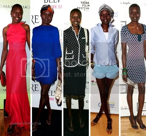 alek wek out on the town