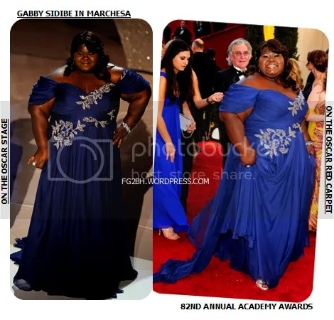Gabby Sidibe at the 2010 Oscars
