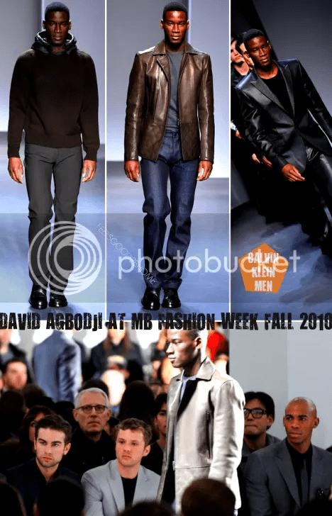 David Agbodji at Calvin Klein Mens Collection Fall 2010
