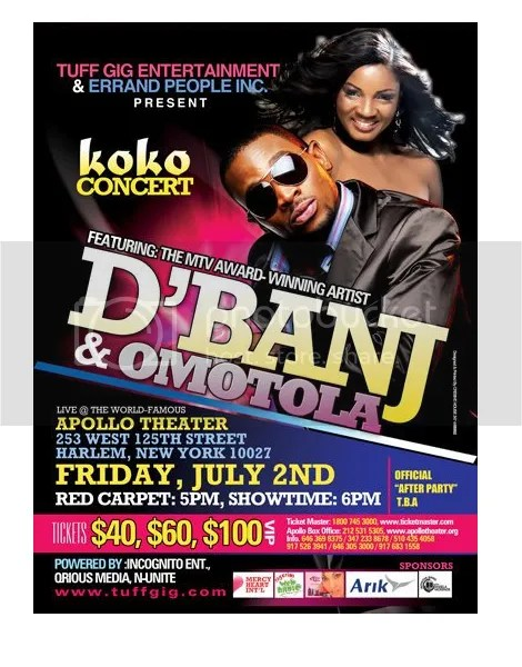dBANJ AND OMOTOLA AT APOLLO