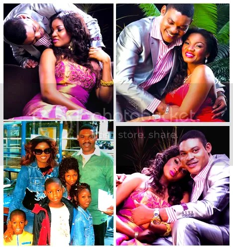 Mathew and Omotla Ekeinde with their children