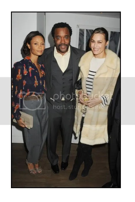 Thandie at Precious Screening with Director Lee Daniels
