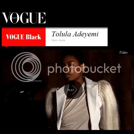 Tolula adeyemi black vogue italia