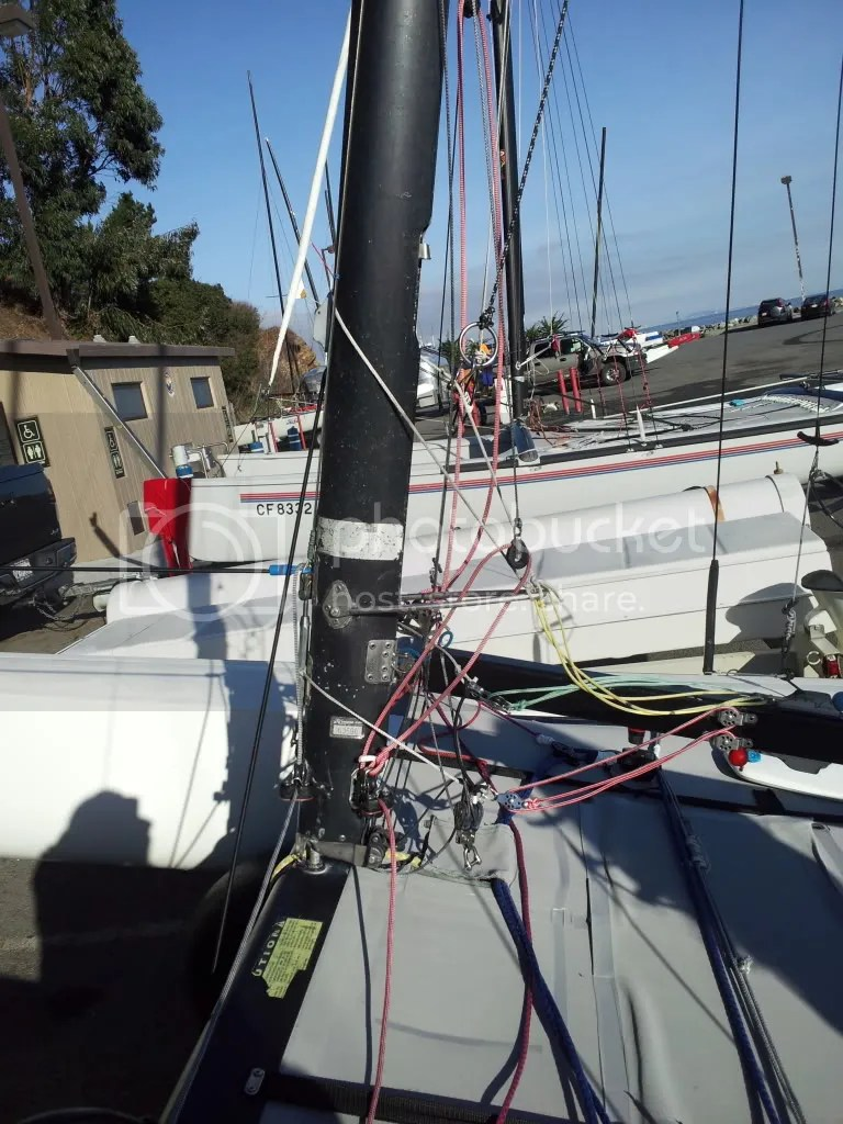 Hobie 20 Rigging Need Engineering PhD To Decipher These Pics Catamaran Sailboats At